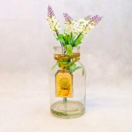 Lavender Jar White