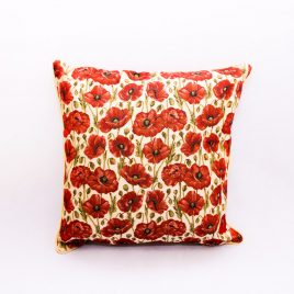 Double Sided Tapestry Cushion – Poppy