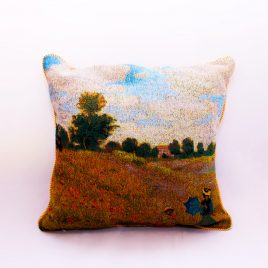 Double Sided Tapestry Cushion – Poppy Field (Monet)