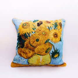 Double Sided Tapestry Cushion – Sunflower (Van Gogh)