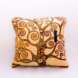 Double Sided Tapestry Cushion – Tree of Light (Klimt)